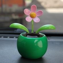 New Arrival Solar Powered Dancing Flower Swinging Animated Dancer Toy Car Decoration New ju20
