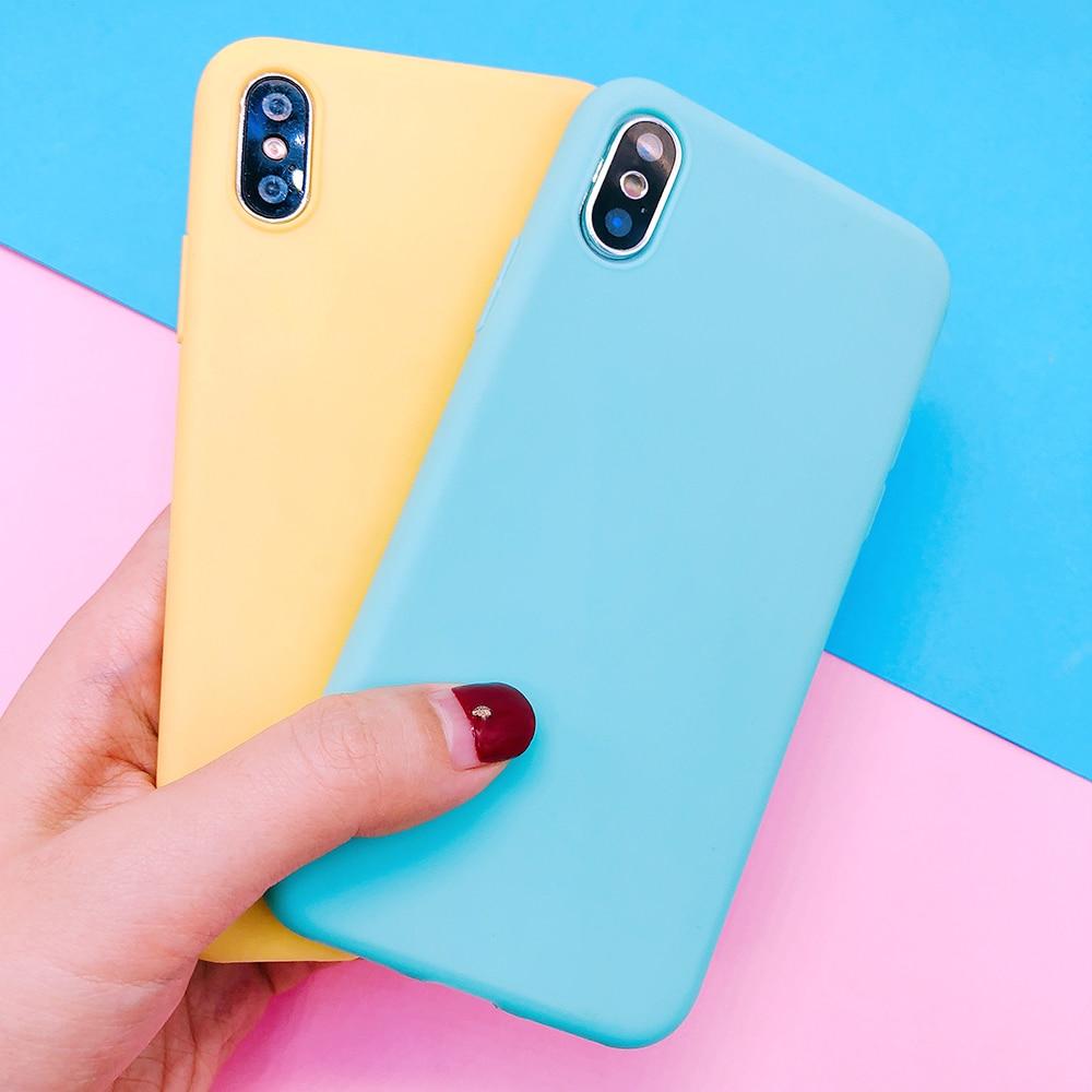 For huawei P20 plus lite P10 P9 lite plus P smart Candy Color soft TPU Case on mate 9 10 pro Nova 2 plus 3e Y9 2018 cover funda (12)
