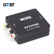 DZLST Mini AV to HDMI Video Converter Box AV2HDMI RCA AV HDMI CVBS to HDMI Adapter for HDTV TV PS3 PS4 PC DVD Xbox Projector(China)