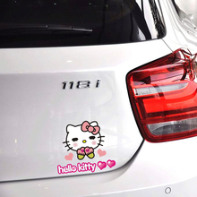 Sweet Hello Kitty Car Accessories Car Sticker and Decal for Girls Volkswagen Polo Golf Skoda Mercedes Smart Bme Audi Renault