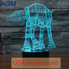 9 Star Wars 3D Desk Light Touch Table lamp 7 Color Changing Troop Dogs Soldiers 3D LED 3D Night Lights For Kids NightLights Dec