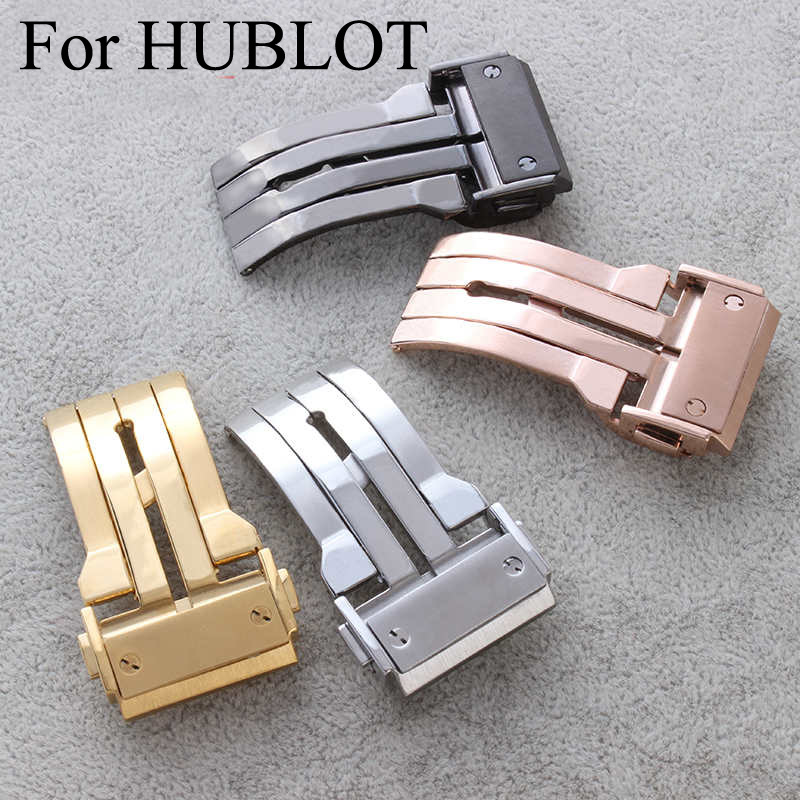 316L Stainless Steel Watch Clasp 18mm 20mm 22mm 24mm Brushed Deployment Watchband Buckle For HUBLO Twatch,With Original Logo<br><br>Aliexpress