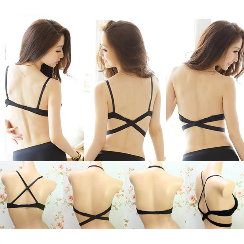 Push Up Bra Underwear Low Cut Backless Invisible Convertible Bra Crop top WST
