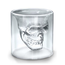 25/75/150/250ml Creative Designer Wine Glass Cup Skull Head Shot Glass Fun Doomed Magic Transparent Party Doom Drinkware Gift(China)