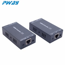 PWAY PW-HT202PIR(POC) 60M HDMI Extender 200FT/60M Transmission via Cat6 FullHD 1080P Support IR Control 3D/EDID/One Power Supply(China)