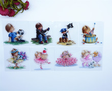 2016 New Scrapbook DIY Photo Album Cards Transparent Acrylic Silicone Rubber Clear Stamps Set Boys and Girls