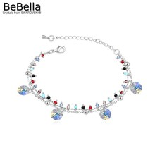 BeBella crystal charm bracelet made with Austrian crystals from Swarovski for women's gift
