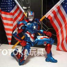 Animation Garage Kid American Superhero Model Toys: MARVEL Action Figure PVC Dolls Patriot Iron Man Model Excellent Gifts