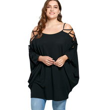Buy CharMma 2017 New Autumn Fashion Plus Size Tops Women XL-5XL Casual Loose Open Shoulder Baggy Solid Long Women Shirt Fall for $12.38 in AliExpress store