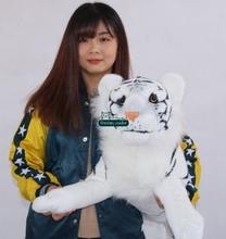 Dorimytrader 40'' / 102cm Giant Stuffed Soft Plush Emulational Animal White Tiger Toy Nice Baby Gift Free Shipping DY61033