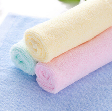 10pcs/lot 25x25cm small Hand Towel Bamboo Towels Soft For Baby / Kids washcloth Wholesale