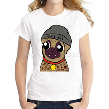 Cheapest Pug Life fashion animal cute design women t-shirt Pug Low Poly lady tops short sleeve casual slim tee