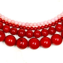 "Wholesale 2mm 3mm 6mm 7mm 10mm Red Dyed Coral Round Beads 15.5"" Pick Size Free Shipping(China)"