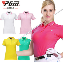 Newest Golf Women Fitted Golf POLO Shirt Summer Quick DryShorts Lady TShirts Plus Size Golf Clothes Women Sport 2017 Golf Shirt