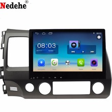Nedehe 2 г + 32 г Android 8,0 Quad core 10,1 дюймов для Honda Civic 2006-2011 автомобилей Радио dvd gps-навигация консоли аудио плеер(China)