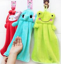 3pcs/lot Super Absorbent Coral Fleece Kitchen Hand Towel Microfiber Hanging Hand towels Cute Nursery Kids Hand Towel Wholesale(China)