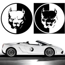 12*12CM PITBULL Car Motorcycle Stickers 3D Dog Funny Car Stickers Car Styling Decals BMW VW Audi Stickers