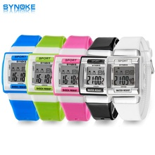 SYNOKE Kids Electronic Wrist Watch Digital Montre Enfant Shockproof Waterproof Children's Watches for Boys Girls Kid Shock Clock(China)