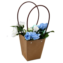 Waterproof Flower Packing Bags Waterproof Potted Succulents Flower Craft Paper Bag Wedding Party Favor Paper Christmas Gift Bag