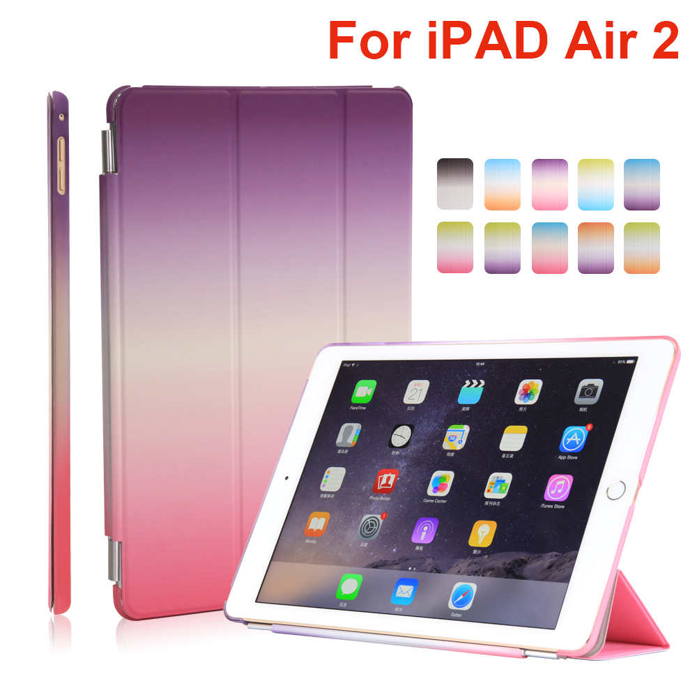 For Apple iPad Air 2 Tablet Cover Case High Quality sleep/wake up PU Leather Smart Case for Ipad 6 Tablet case+Screen Film+Pen<br><br>Aliexpress