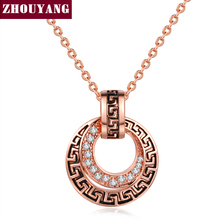 Buy Top Classical Rose Gold Color Pendant Necklace Jewelry Made Austria Crystal Wholesale ZYN203 ZYN209 for $2.90 in AliExpress store