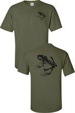 T Shirt Funny T-shirt Men Navy Seals Skeleton Frog Printed Front And Back Military Men's Tee Shirt 717
