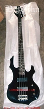free shipping music instrument new Big John 4 strings electric bass guitar in black 24 fret F-081(China)