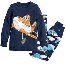 UNIKIDS New Cartoon Kids Planes Pajamas Set Boys Long Sleeve Spring Autumn Sleepwear Clothing Baby Lovely Pyjamas Suit Children(China)