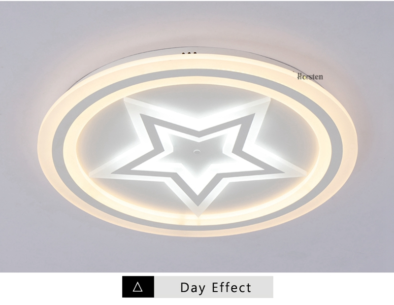 Modern Acrylic LED Ceiling Lights For Living Room Bedroom 50cm 60cm 80cm Simple Star Design Ceiling Lamp With Remote Control 220V (7)