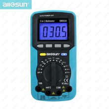 all-sun EM5510 Digital Multimeter 5 in 1 Sound Level Humidity Luminosity Autoranging Multimeter Temperature Tester(China)