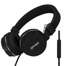Best Headphones Wired Stereo Gaming headset With Mic Over Ear Headsets Bass HiFi Sound Music Earphone For Smartphone PC computer
