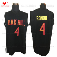 Cheap Oak Hill Academy HS #4 Rajon Rondo Jersey Throwback Basketball Jersey Vintage Retro Basket Shirt For Men Stitched Black(China)