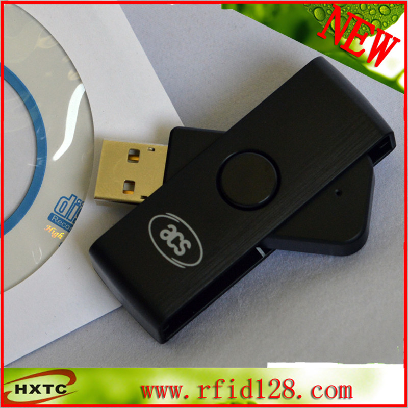 CAA-Portable Smart Card Reader USB ACR38U-N1  Common Access card Writer ID SCM<br>