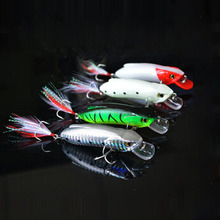 minnow hard bait plastic artificial fishing lures 80mm 14g free shipping high cost performance(China)