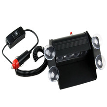 Car Styling DC 12V 4 LED Emergency Windshield Unit 3 Mode Vehicle Car Truck Windshields Dash Strobe Warning Lights Fog Light