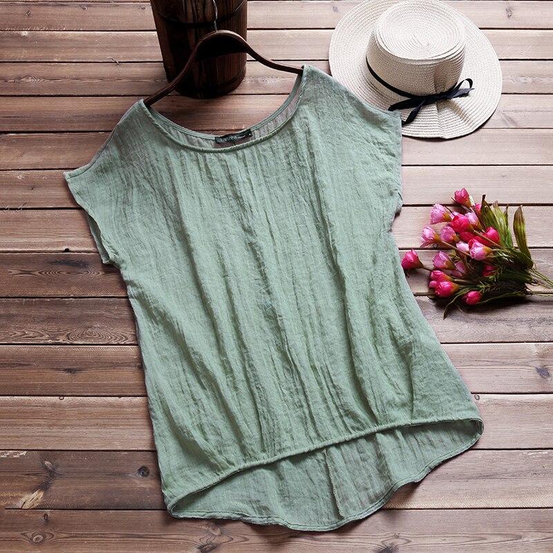 ZANZEA-Vintage-Cotton-Linen-Baggy-T-Shirt-2018-Summer-Fashion-Women-Blusa-Casual-Crew-Neck-Short2