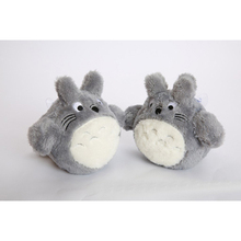 New Arrival Cute Brinquedos 2pcs Japanese Anime Gray Action Figure Stuffed Toy Plush Animals Gift for Kids One Size FL(China)
