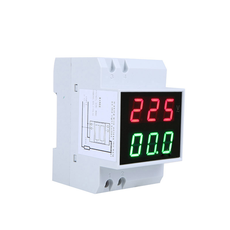 Digital Din-Rail LED Voltage Ammeter Current Meter Voltmeter AC80-300V 0.2-99.9A Dual Display(China (Mainland))