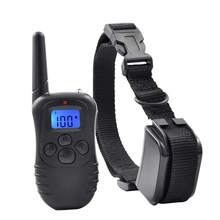 Ipets 998DR-1BL 300M Remote Rechargeable And Rainproof 100Levels Vibration Shock Electronic Dog Training Collar(China)