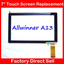 "20PCS 7"" 7Inch Capacitive Touch Screen PANEL Digitizer Glass Replacement for Allwinner A13 Q88 Q8 pad A13 Free Shipping"