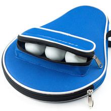 Professional Oxford Table Tennis Racket Bag Case with Outer Zipper Bag for Table Tennis Balls Table Tennis Accessories(China)