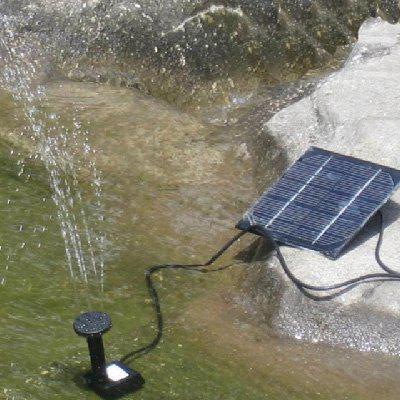 kit de energa solar sin cepillo de la fuente de rocalla bomba de agua del estanque de feature