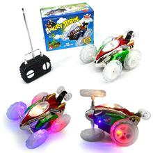 RC Twister Car Flashing Exquisite Twister Toy Car LED 360degree Rolling ABS Tumble RC Stunt Car(China)