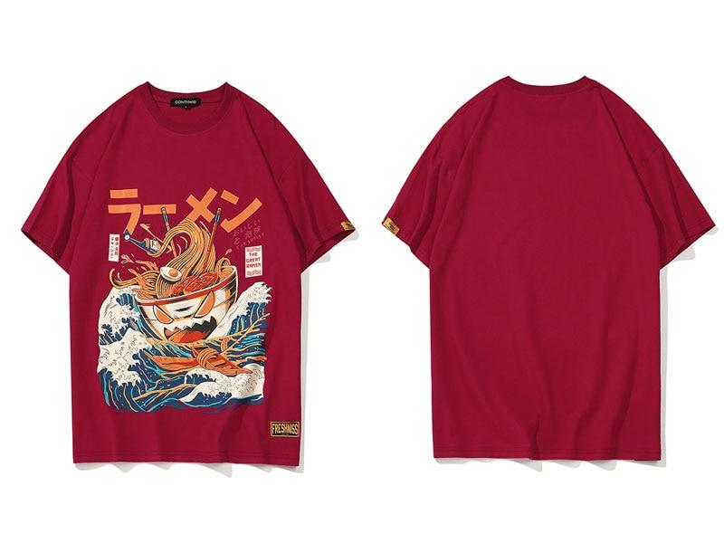 Japanese Funny Cartoon Ramen Tshirts 1