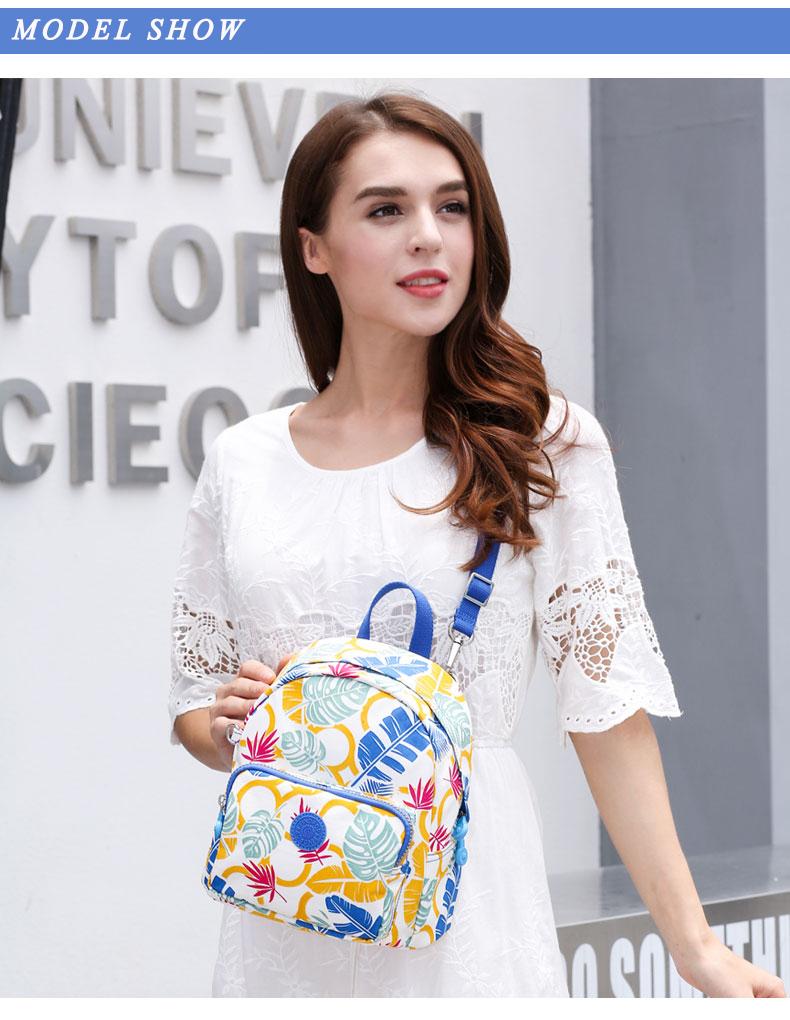 Findpop Mode Casual Sac À Dos Femmes 2018 Nouveau Étanche Mini Sac À Dos Pour Femmes Toile Floral Imprimé Petit Sac À Dos Pour Filles 10