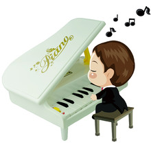 Beautiful Light Mini Piano Toys for Children Kids Birthday Present Toy Musical Instrument 27.5x23x26cm Wholesale Prices Krystal