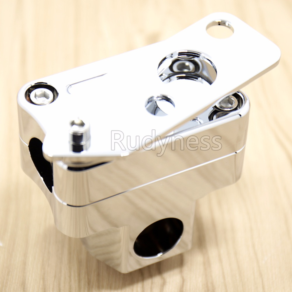 1X Chrome Handlebar Stand Post Clamp Riser for Ruckus 50 Zoomer Scooter NPS50<br>