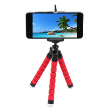 Sponge Flexible Octopus Tripod For Gopro Hero with Phone Holder Tripod for iPhone Samsung Huawei Xiaomi Lenovo Smart Mobile(China)