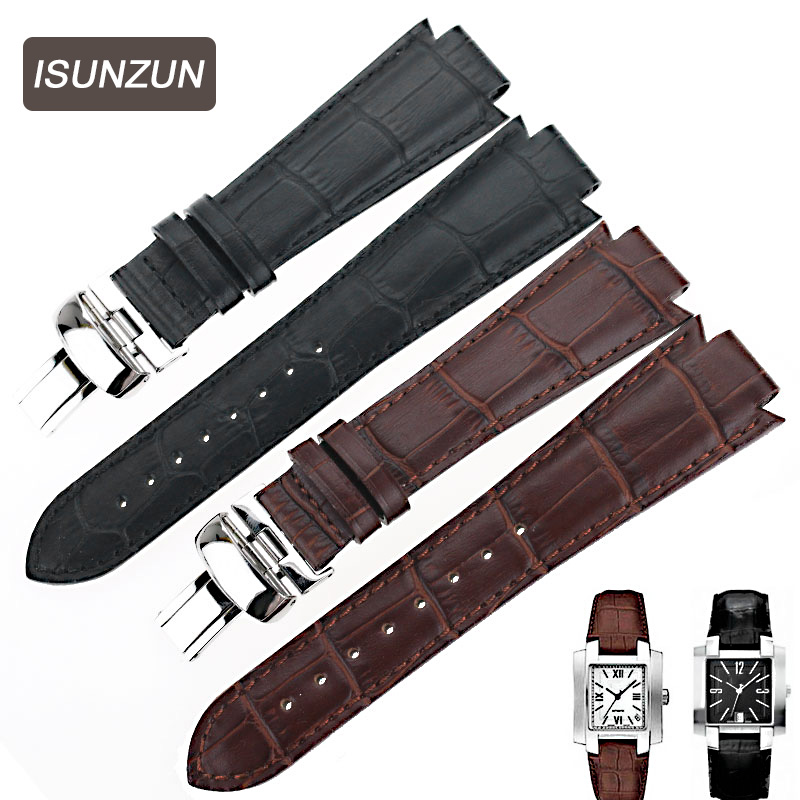 ISUNZUN Watch Band For Tissot 1853 T60 Genuine Leather Watch Strap For Men And Women 14MM Watch Band Fashion Watchbands<br>