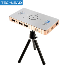 C6 mini DLP projector Android 5.1 quad core TV Box dual band 5Ghz HD Bluetooth HDMI portable Media player with 5000mAh battery